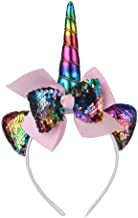 Sequin Unicorn Headband for Birthday Party Decoration Halloween Cosplay Costume - Rainbow