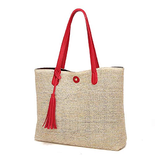 Women's Bag Large Capacity Soft Beach Straw Tote Designer Female Shoulder Bags