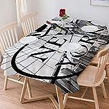 Wachstuch Tischdecke 140x200 cm,Americana Apartment, Stadtansicht NYC Big Apple Ich liebe New York C,Rechteckige Tischabdeckung Gartentischdecke für Gastronomie, Feste, Party, Hochzeiten oder Haushalt