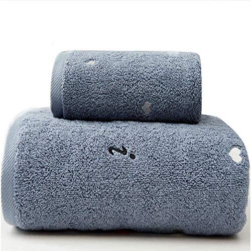 DSJDSFH Einfache Art Baumwolle Paar Badetücher Zweiteilige Haushalt Handtücher Langlebig Und Komfortabel 70 * 140 cm