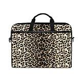 RXYY - Funda para portátil de 14 a 14,5 pulgadas, diseño de piel de animal salvaje con textura de piel de animal salvaje, bolsa de hombro, bolsa de transporte para oficina, mujeres y hombres