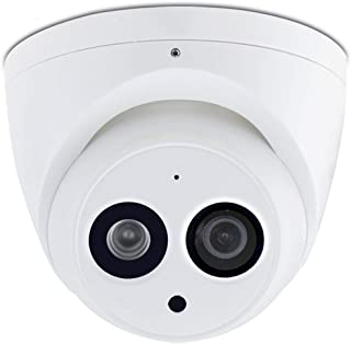 6MP IP Network Dome Security POE Camera, IPC-HDW4631C-A 2.8mm Lens with Wide Viewing Angle, Night Vision, Smart H.265 Security, IP67 Weatherproof, ONVIF, Surveillance CCTV Camera