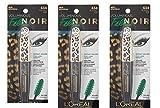 (Pack of 3) - VALUE PACK! - L'Oréal Paris Voluminous Feline Noir Waterproof Mascara, 634 Blackest Noir, 0.27 fl. oz.