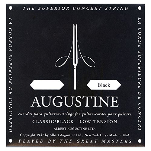 Augustine Corde per Chitarra Classica, Singole Mi1, Nero