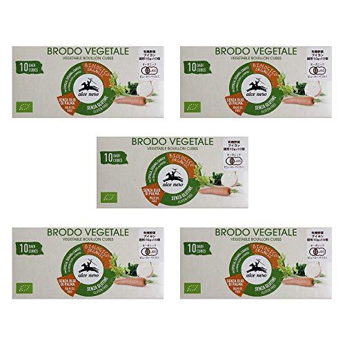 【まとめ買い】有機JAS 有機野菜ブイヨン・キューブタイプ alcenero アルチェネロ 100g×5箱 オーガニック