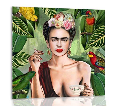 Tangerine Wall | Cuadro Retrato Frida Kahlo | Tamaños: