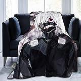 JONINOT Anime Tokyo Ghoul Manta Colcha de Microfibra Manta Funda de Cama de Coral Suave 80 'x60' Pulgadas