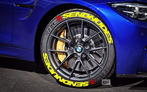 PS 4x SEND NUDESReifenbeschriftung Reifen Aufkleber 4x Gummi Tire Tyre Sticker Set passend auf 15