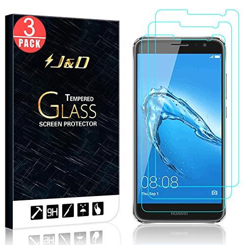 Huawei Nova Plus Protector de Pantalla (2 Paquetes), J&D [Cristal Templado] HD Claro Vidrio Balístico Protector de Pantalla para Huawei Nova Plus - Protector contra Caída y Arañazos