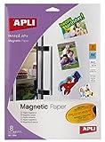 Apli 010245 Papier magnétique - Feuilles de Papier Aimanté - 8 Feuilles -  210 x...