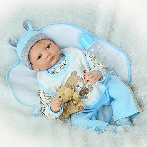 OUBL 22inch 55 CM realistica Reborn Bambole Baby Doll Toddler Neonato Maschio Silicone Vinyl Regali Giocattolo