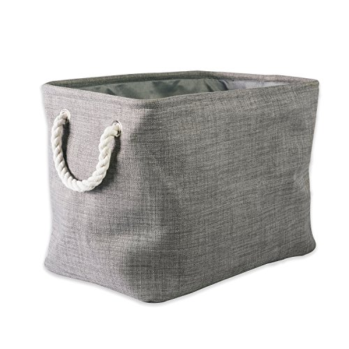 DII CAMZ37078 5568 Collapsible Variegated Polyester Storage Bin, Large, Gray