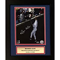Moises Alou Chicago Cubs Autographed Steve Bartman Signed 8x10 Baseball Framed Photo Schwartz Sports COA