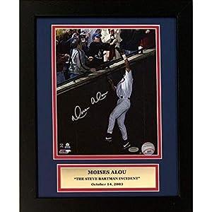 Moises Alou Chicago Cubs Autographed Steve Bartman Signed 8x10 Baseball Framed Photo Schwartz Sports COA
