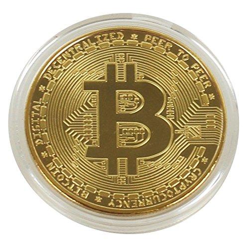 Portafoglio hardware per la memorizzazione di criptovalute come Bitcoin, Ethereum con gettoni (ERC20), Litecoin, Ripple + BONUS (Moneta Bitcoin (oro))