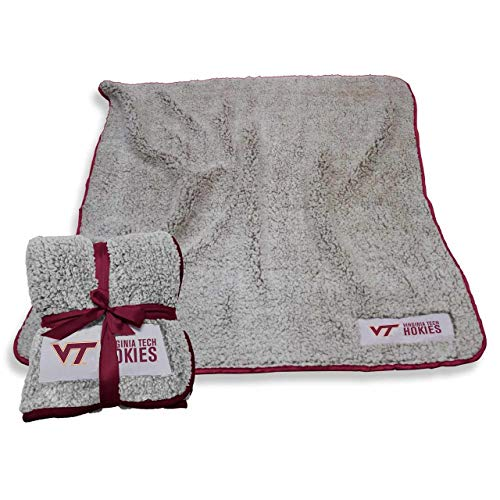 Logo Virginia Tech Hokies NCAA Frosty Fleece 60 X 50 Blanket - Team Color