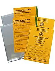 książeczka szczepień, pokrowiec ochronny i karta identyfikacyjna w zestawie – międzynarodowe certyfikaty na temat szczepień i książeczki szczepień..