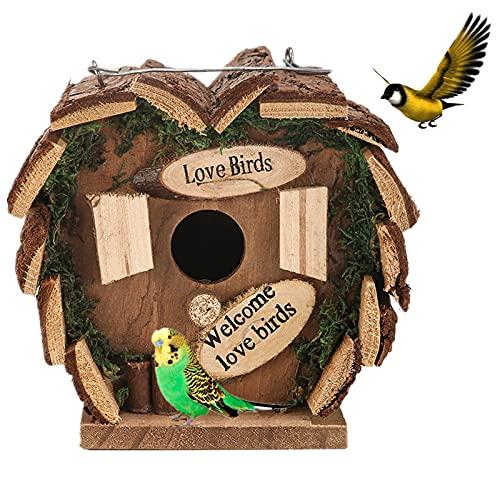 Creativo Pajarera De Madera, Grande Casa De Pájaros Para Criadores Especializados Jardín, Nido, Casa Para PáJaros, Pajarera, Decoración De Balcó