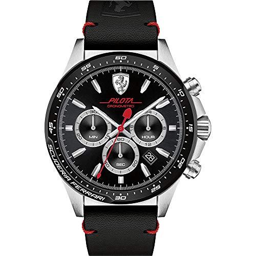 Scuderia Ferrari Mens Quartz Watch, Analog and Leather- 830389