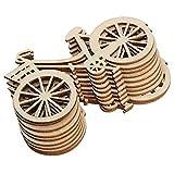MoGist Lot de 10 rondelles en Bois créatives pour vélo en Forme de rondelles en Bois Décoration de Sapin de Noël Décoration...
