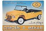 Francia Vintage Placa Metal 40x30cm Citroen MEHARI BAJO LOS ADOQUINES LA Playa