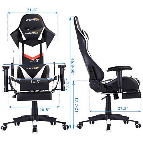 WENSIX Ergonomischer Gaming-Stuhl PC Bild 6*