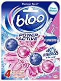 Bloo Power Active Toilet Rim Block Fresh Flowers with Anti-Limescale, Cleaning Foam, Dirt Protection and Extra...
