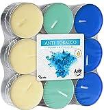 hibuy - Velas perfumadas antitabaco (duración de 4 Horas, 18 Unidades)