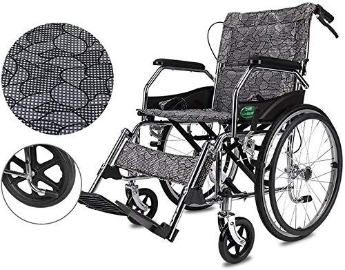 LRX Rollstuhl faltbar Selbstfahr Rollstuhl, Folding Transport Rollstuhl (Size : Big Wheel)