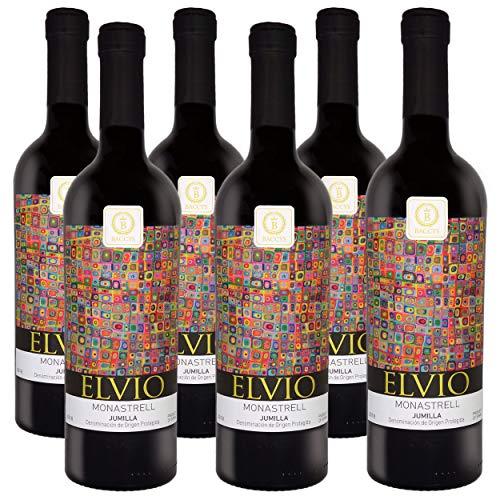 BACCYS ELVIO, Rotwein aus Spanien, 2018er Monastrell, Jumilla D.O.P. (6 x 0.75 l) + 1x KING BRAVA Gewürzmischung (Beutel 50g) + Rezeptkarte