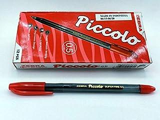 علبه اقلام جاف زيبرا احمر -12 قلم