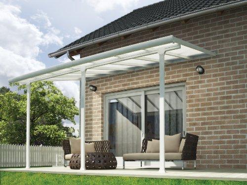 Chalet et jardin - 701692 - Toit Couv' Terrasse - Aurore Aluminium - 3 X 4.25 M - Blanc