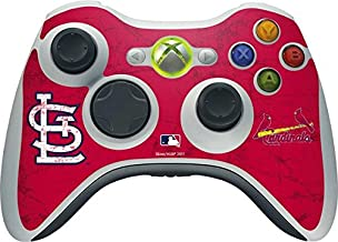 Skinit St. Louis Cardinals - Solid Distressed Vinyl Skin for 1 Microsoft Xbox 360 Wireless Controller