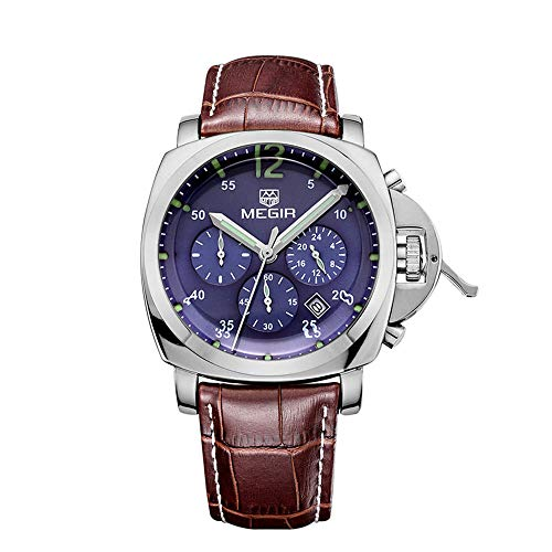 Megir Chronograph Quartz Date Function Luminous Hands Men's Watch...