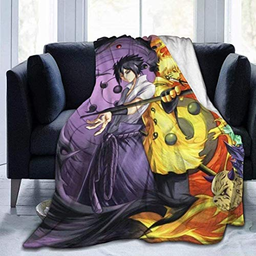 STKCST Naruto Uzumaki Naruto Uchiha Sasuke Anime Manta De Anime 3D Impresión En Color Manta Franela Cómoda Y Suave Manta Edredón 60'X50 Ropa De Cama De Anime Multi-tamaño
