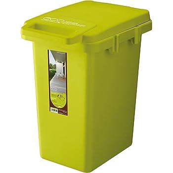 リス ゴミ箱 ワンハンド ハンドル付き グリーン 33L ecoコンテナスタイル2 日本製 CS2-33J