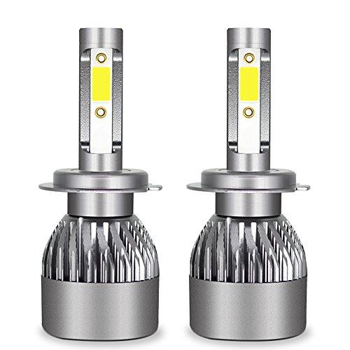 Ampoule De Phare LED Tout-En-Un Kit De Conversion-H1, H4, H7, H11, 9005, 9012-3200LM 6000K Cool White 360 Degré D'éclairage Pour Remplacement De Lampe De Voiture,H7