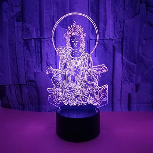 Buddha-Bild 3D Visuelle Lampe, Led 16 Farbwechsel Berühren Schlafzimmer Tabelle Schreibtisch-Nachtlicht Für Kinderzimmer Home Decor Weihnachten Geburtstag Geschenke