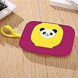 U/D Caso toallitas toallita húmeda Caja dispensadora for el Cochecito de Cuerda portátil Lid Cubierto Cajas de Tejidos (Color : Púrpura, Size : 1)