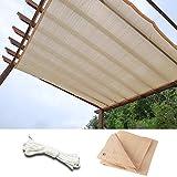 WUZMING-Sichtschutznetz Sonnensegel Verschlüsselung Mit Metalllöchern UV-Schutz Multifunktion Polyethylen Sonnentuch Dach/Balkon/Pavillon, 47 Größen (Color : Beige, Size : 1.5x4m)