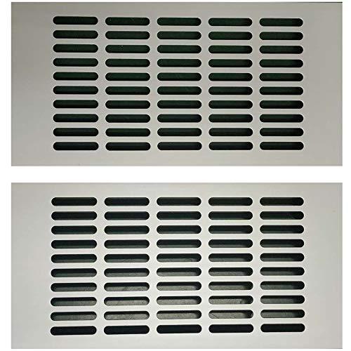 Gurxi 2PCS Rejilla de Ventilación de Aluminio Calidad Placa de Ventilación 15 * 30cm