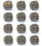 Alanos Profesional Estropajos de Acero Inoxidable tamaño Extra Grande XXL Pack 12 Unidades