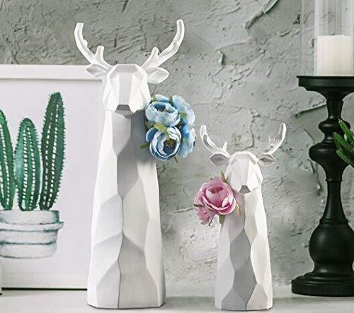 Bonheur Nordic Origami Ikebana-Kunst-Dekoration Moderne minimalistisches Dekor Möbel Weißwein Elk Studie Eingang Blume Origami Rotwild-Kopf-Ornament [A] Blumenpaket