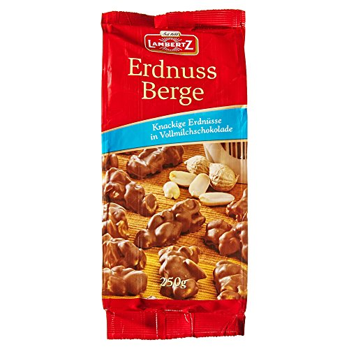 Lambertz Erdnuss Berge Vollmilchschokolade, 6er Pack (6 x 250 g)
