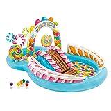 Piscina gonfiabile, centro gioco gonfiabile Candy Zone per bambini dai 2 anni in su, piscina per bambini unica centro gioco per box acquatico per bambini per giardino esterno 116 x 75 x 51