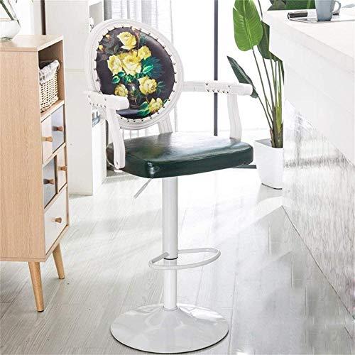 Taburetes para mostrador de cocina retro ajustable giratorio taburetes giratorios de barra de elevación de gas taburetes de barra de bar, sillones, sillas y taburetes de bar (color: Q)-L