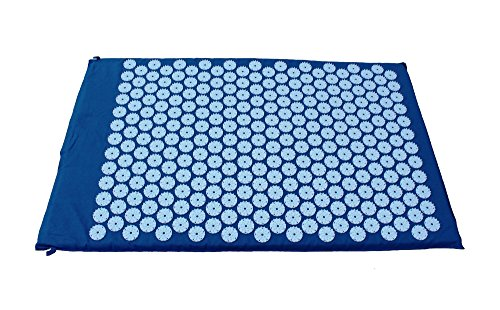 Acupressuurmat, acupressuur, kussen, massagemat, nagelmat, acupunctuurmat, 80 x 51 cm, donkerblauw