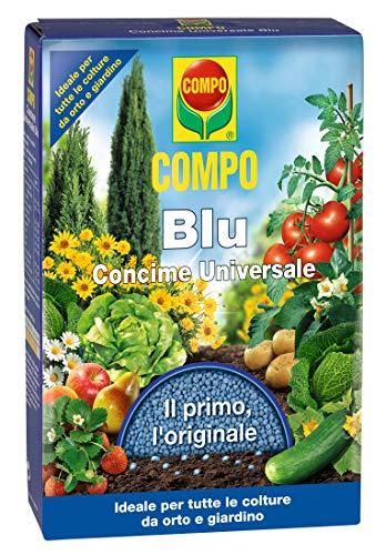 Compo Blu, Concime Granulare Universale, Il Primo, L'Originale, Fertilizzante Ideale per Tutte Le Colture da orto e Giardino,1 kg, 18x2,5x20 cm