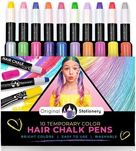 Original Stationery Hair Chalks Set for Girls 10 Piece Temporary Hair Chalk Colors product image
