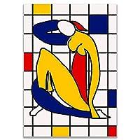 """キャンバス画像抽象的な色の肖像画のポスターとプリントアートワーク壁アートリビングルーム寝室の家の装飾15.7"""" x23.6""""(40x60cm)フレームレス"""
